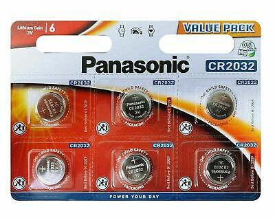 £2.69 • Buy 6 Panasonic CR2032 Lithium Coin Cell 2032 3V Battery Car Key Fobs Toys Remote