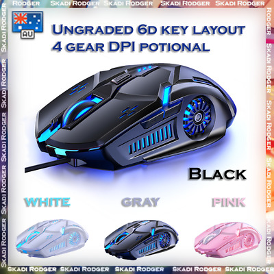 AU15.42 • Buy New RGB Wired Game Gaming Mouse USB Optical For PC Laptop Computer 4-Speed DPI
