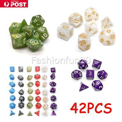 AU13.99 • Buy 42 PCS/Set Dungeons & Dragons MTG Polyhedral Game Dice Six-Color DND RPG Dice OZ