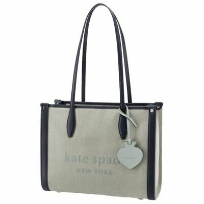$ CDN449.33 • Buy KATE SPADE Canvas Tote Bags Eco Bag Blue System With Charm Tag Present Summer