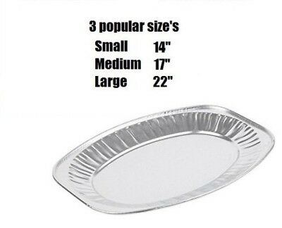 £6.29 • Buy  New Oval Aluminium Foil Tray Buffet Disposable Home Party Wedding Food Platters