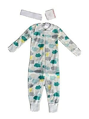 $19.99 • Buy New Baby Hanna Andersson PJs Pajamas Clouds Sun Zip Cotton White 6-12 Months