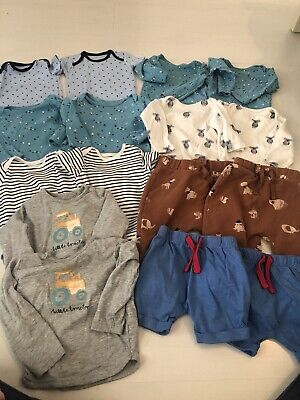 Large Twin Baby Boys Clothing Bundle - 6-9 Months - Animals • 20£