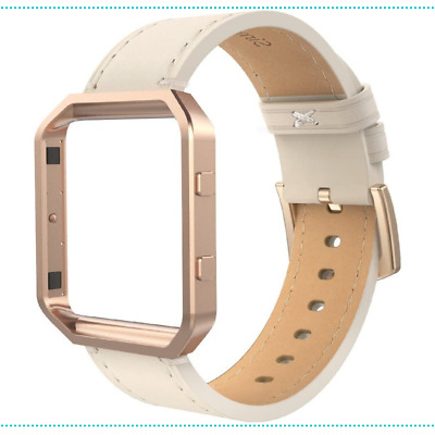 AU26.37 • Buy Leather Band Frame Fit Bit Blaze Size Small Rose Gold Metal Small