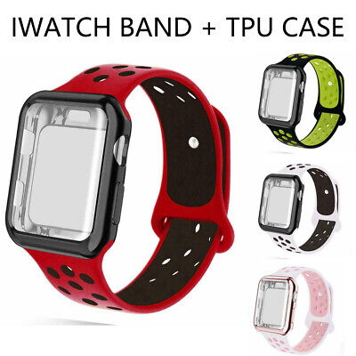 $ CDN6.24 • Buy Sports Band Loop Strap + Screen Case Protector For Apple Watch Series 3 4 5 6 SE