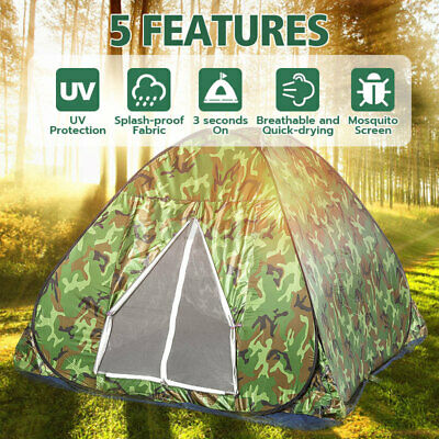 AU36.48 • Buy Automatic Quick Open Camping Tent Outdoor Double Layer Waterproof 1-4 Persons AU