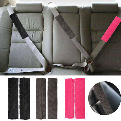2X Car Safety Seat Belt Cover Pads Cushion Covers Strap Harness For Adults Kids • 4.16£
