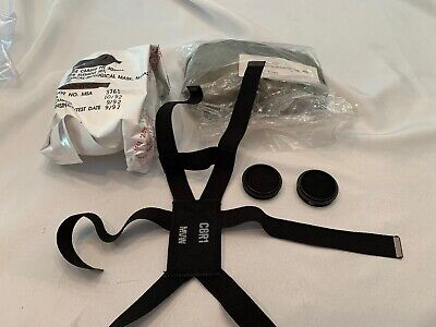 $29.99 • Buy US M17 Gas Mask Parts Set Filter Hood Inlet Covers And Harness New
