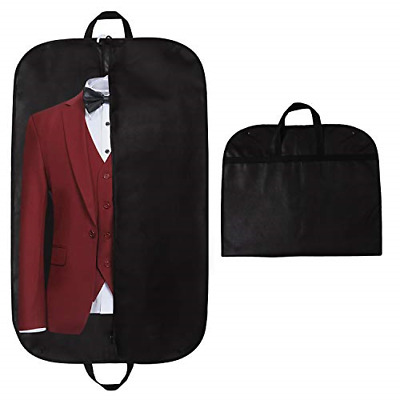 STEVOY 40  Suit Carrier Bag, Clothes Covers With Handles For Travel, Foldover • 8.85£