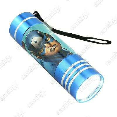 £9.49 • Buy Licensed Disney Character Avengers Captain America Blue LED Torch Xmas Gift 3+Y