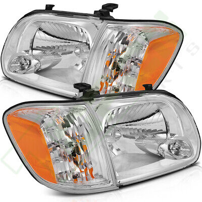 $129.59 • Buy For 2005-2006 Toyota Tundra 2007 Sequoia Headlights Lamps Pair Left + Right Side
