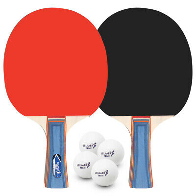 AU15.81 • Buy Table Tennis 2 Player Set 2 Table Tennis Bats Rackets With 4 Ping Pong L5Y4