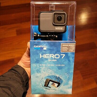 $ CDN228.35 • Buy GoPro Hero 7 Silver Edition- Model SPTM1  - NEW & SEALED 2020 Model W/ Housing!