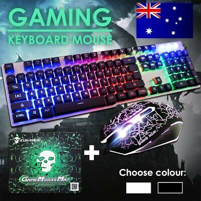 AU23.90 • Buy Rainbow Keyboard Mouse Set For PS4 PS3 Xbox One And Xbox 360 Gaming Backlight AU