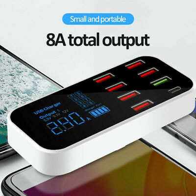 AU22.07 • Buy 8-port USB Car Display Charger Station Hub QC3.0 FAST Type-C For IPhone Samsung