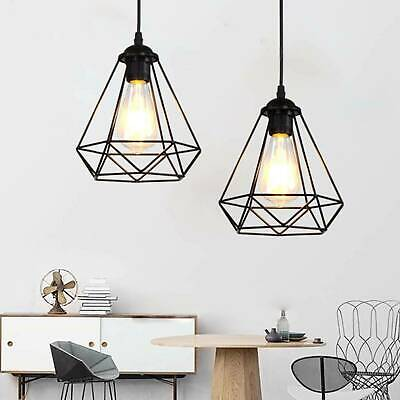 Industrial Geometric Light Shade Wire Frame Ceiling Pendant Lightshade Lampshade • 10.89£