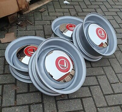 Volvo P1800s Wide Steel Wheels P1800 Jensen Amazon 121 122s 123gt • 400£