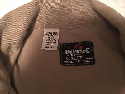 $30 • Buy Mens Bulwark Coveralls 3XL Made In USA 100% Cotton Protective Apparel Quality!