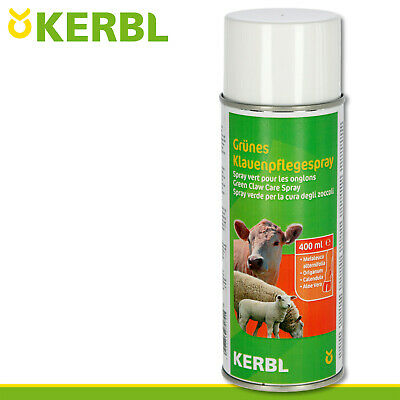 Kerbl 400ml Green Klauenpflegespray For Cattle And Sheep Huf Pigs Protection • 12.16£