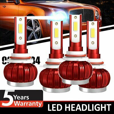 AU25.32 • Buy 9006 HB4 200W 38000LM LED Headlight Kit Lamp Bulbs Globes High Low Beam Upgrade