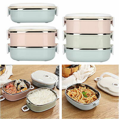 AU23.29 • Buy 3 Tiers Stainless Steel Insulated Bento Food Thermal Container Thermo Lunch Box