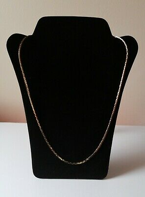 Womens Gold Toned Flat Snake Style Chain Costume Necklace • 9.99£