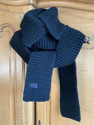 All Saints Extra Long Black Chunky Wool Scarf With Collar. One Size. New. • 49£
