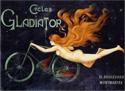 Vintage French Paris Cycles Gladiator 1895 Print Poster Wall Art Picture A4 + • 3.99£