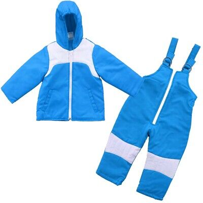 £18.04 • Buy 2 PC Insulated Winter Padded Kids Snow Suit Girls Boys Baby All-In-One Ski Blue