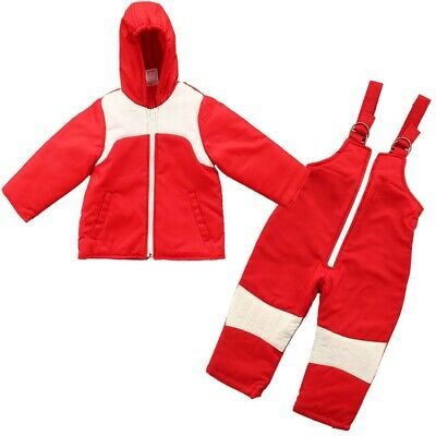 £18.04 • Buy 2PC Insulated Winter Padded Kids Snow Suit Girls Boys Baby All-In-One Ski Red