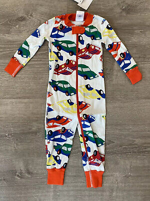$19.99 • Buy New Hanna Andersson Pajamas One-piece Sleeper Race Cars 70 Cm US 6-12 Months