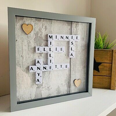 Scrabble Picture Frame Grey Gifts Box Frames  • 24.95£