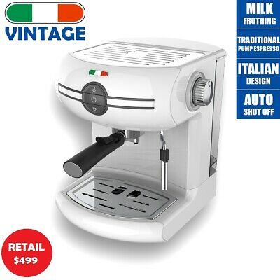 AU149.49 • Buy Vintage Traditional Pump Espresso Coffee Machine - Not Delonghi - White