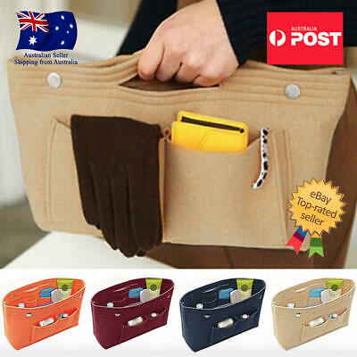 AU14.95 • Buy Travel Organiser Handbag Felt Bag Tote Insert Liner Purse Pouch Women Storage AU