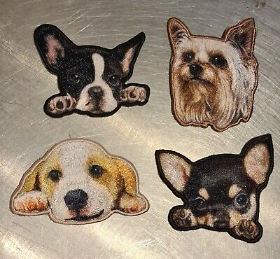 £2.50 • Buy Cute Puppy Dog Head Embroidered Motifs Iron/sew On