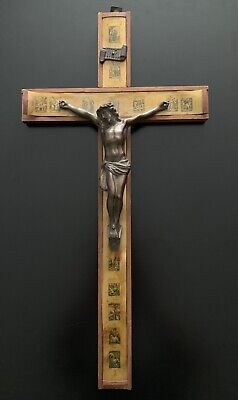 Vintage Stations Of The Cross Crucifix Christianity Religious • 25.68£