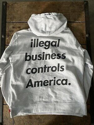$ CDN235.26 • Buy Supreme Illegal Business Controls America Hoodie Heather Gray Xl Condition 9/10