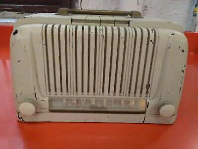 $ CDN114.17 • Buy VTG 1940s ART DECO SILVERTONE TABLETOP TUBE RADIO TESTED Working 6012 Bakelite