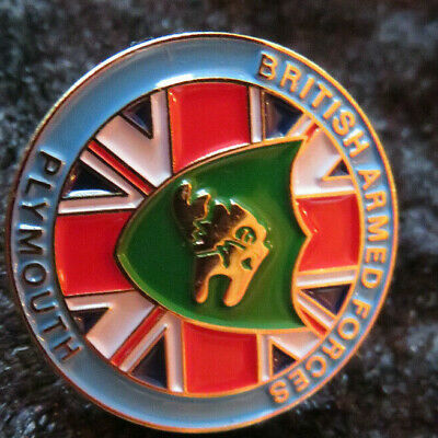 Royal Navy - Falklands Veteran Badge - Plymouth Contingent Of Armed Forces • 9.50£