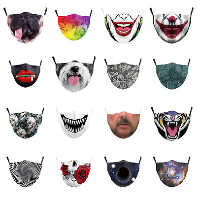 £4.99 • Buy Social Masks Face Cover Fashion Washable Re-Usable Novelty Funny Adjustable Mask