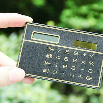 Useful 8 Digits Ultra Thin Mini Slim Credit Card Solar # G2E8 Pocket Power Y9J9 • 2.19£
