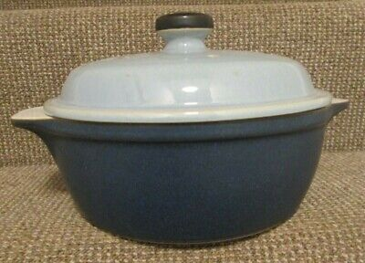 Denby Stoneware Blue Jetty Casserole Dish Pot With Lid • 38£