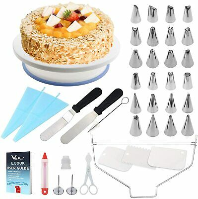 £22.99 • Buy Cake Decorating Kit Craft Baking Supplies With Turntable Stand Plant 39 Pieces