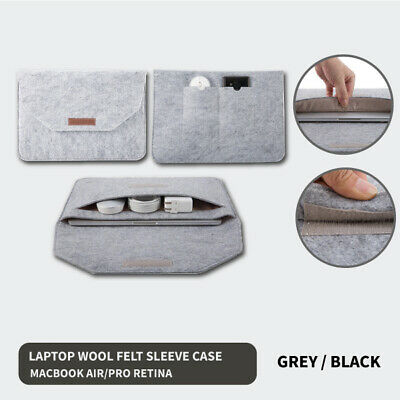 AU15.15 • Buy Laptop Wool Felt Sleeve Case Cover Bag Pouch For Apple MacBook Air Pro Retina