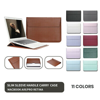AU17.43 • Buy Macbook Air Pro Retina 13' Inch Slim Colored Case Cover Bag Wallet Sleeve Stand