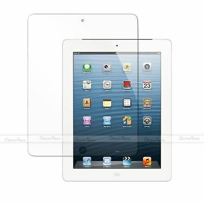 2x TOP QUALITY CLEAR SCREEN PROTECTOR COVER FOR APPLE IPAD 4 WITH RETINA DISPLAY • 2.29£