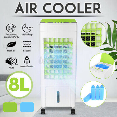 AU69.99 • Buy 8L Air Conditioner Cooler Fan Ice Cooling Humidifier Purifier Evaporative Cool