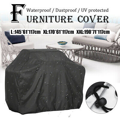 AU18.99 • Buy BBQ Cover 2/4/6 Burner Outdoor Waterproof Gas Charcoal Barbecue Grill Protector