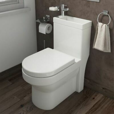 2 In 1 Compact Basin Close Coupled Toilet Combo Space Saver Cloakroom Unit • 249.99£