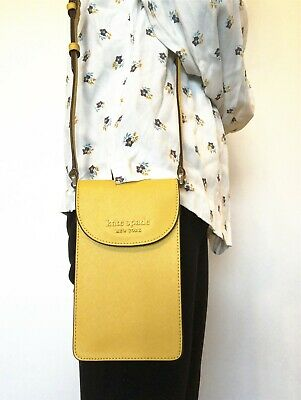 $ CDN62.26 • Buy Nwt Kate Spade Cameron Monotone Ns Flap Phone Crossbody Bag Leather $119